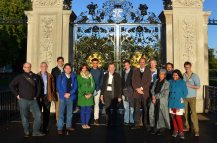 Participants at the inaugural IUCN Mangrove Specialist Group meeting, visiting Kew Gardens. Photo: Prof. Joe Lee