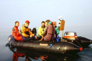 Seasearch diving volunteers in boat_LR